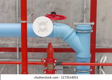 Water pipe in the building, industrial infrastructure