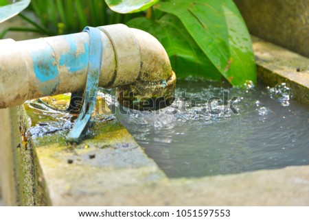 Water Pipe Downstream Used Watering Plants Stock Photo Edit Now