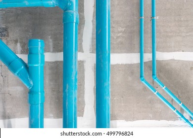 water pipe hanging in construction site building