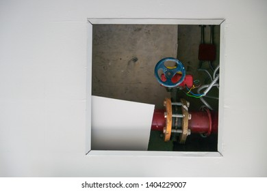 Water pipe on the ceiling