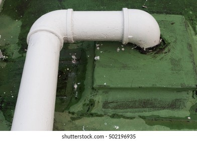 Water pipe on rooftop