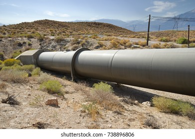 water pipeline carrying the Owens River water to a powerplant