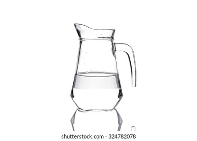 Water pitcher isolated on white