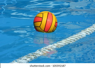 water polo ball in a swimming pool