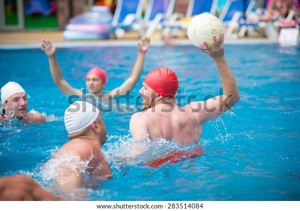 Water Polo Players. water games in the pool