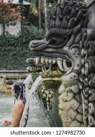 Water purification at Banjar Hotsprings Lovina, Bali, Indonesia