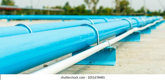 water PVC pipe section