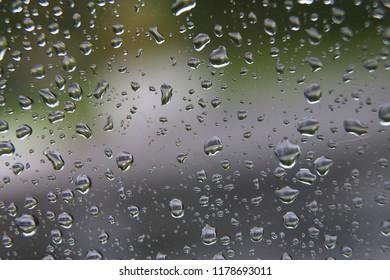 water rain glass drop