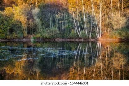 water reflection, liptovsky mikulas, slovakia