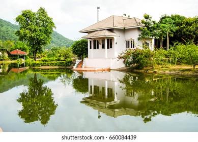 Water reflection at Phu pha phung Resort