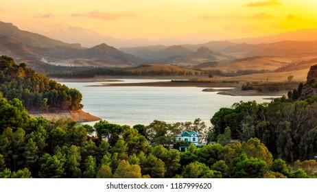 water reservoir of Guadalhorce