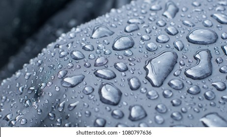 Water Resistant Fabric Material with Water Drops