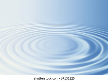 Water ripples and bright light