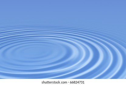 Water ripples smooth