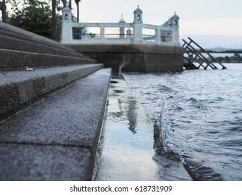 water in river stair