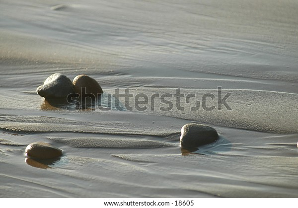 water in the sand