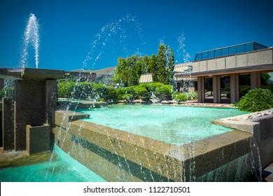 Water Sculpture In Vernon BC