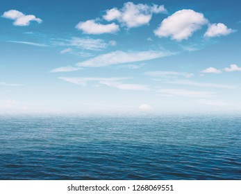 Water, sky, clouds as background