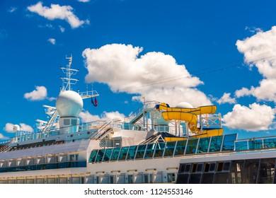 Water Slide on Ship