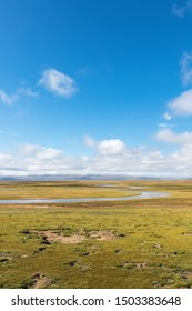 water sources and plateau wetlands landscape,maduo county, guoluo tibetan autonomous prefecture, qinghai province, China