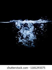 Water Splash black Background
