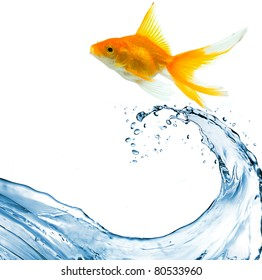 water splash in blue color