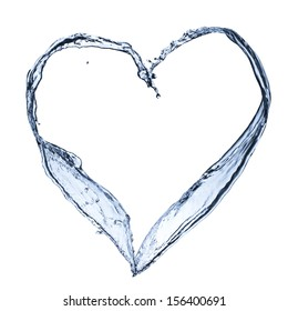 Water splash form heart shape. Concept for health care and healthy life