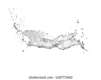 water Splash isolate On White Background