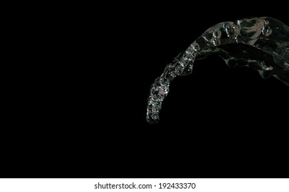Water splash isolated on black