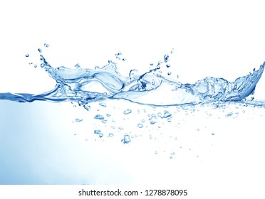 Water splash isolated on white background,water