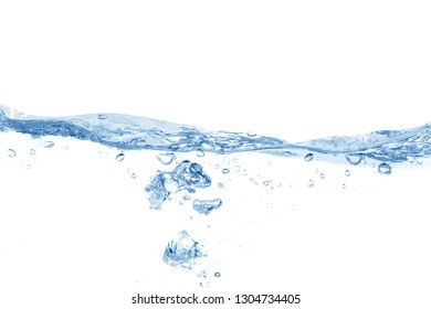 Water splash,  water splash isolated on white background, water