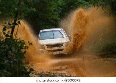 Water splash in off-road racing