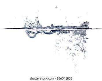 water splash on a white background