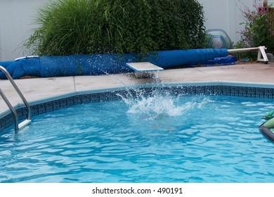 water splash in pool