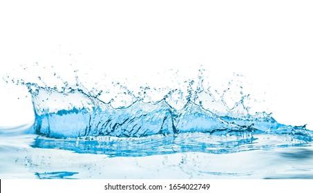 Wassersplash mit Reflexion