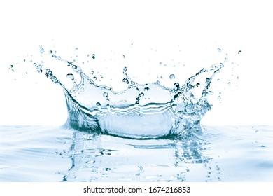 Wassersplash mit Reflexion, einzeln