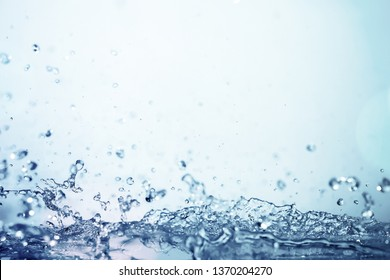 water splash in vintage colorful for freshness and abstract water background