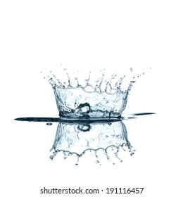 Water splash in white background