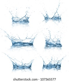 Water splashes collection - Shutterstock ID 107365577