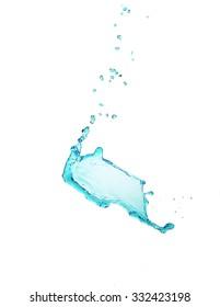 Water splashes isolated on white
