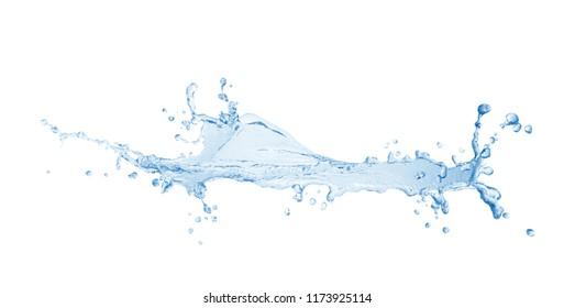 Water splash,water splash isolated on white background,blue water splash,water,