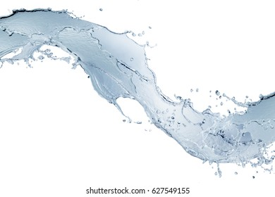 Water splash,water splash isolated on white  background,water