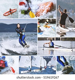 Water sports collage