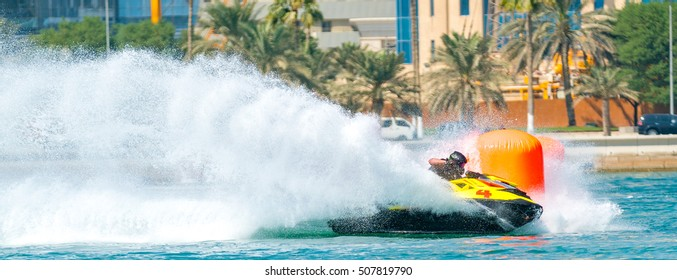 Water sports in qatar, Scrooter racing by youth qatari team