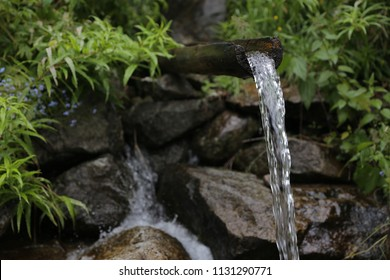 Water spring in the mountains