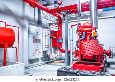 water sprinkler piping and fire alarm control system