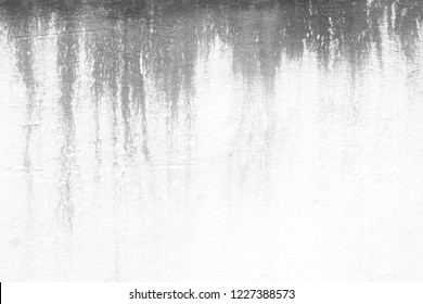 Water Stain on White Concrete Wall Texture Background.