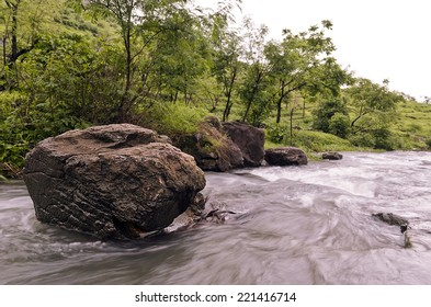 Water Stream   A rivulet during monsoon in Western Ghat mountains, Maharashtra, India.