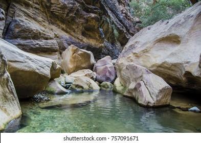 water stream wadi lajab near jizan