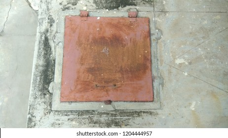 water sump tank covered with heavy metal lid and sump tank is most popular way of storing water for day to day usage in india